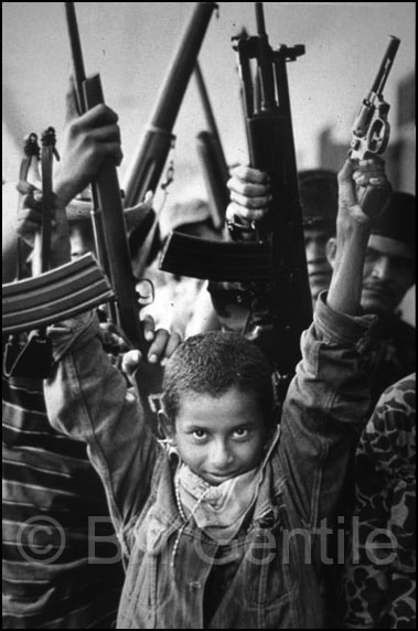 Sandinista rebels in the Sandinista-occupied city of Masaya. 1979.