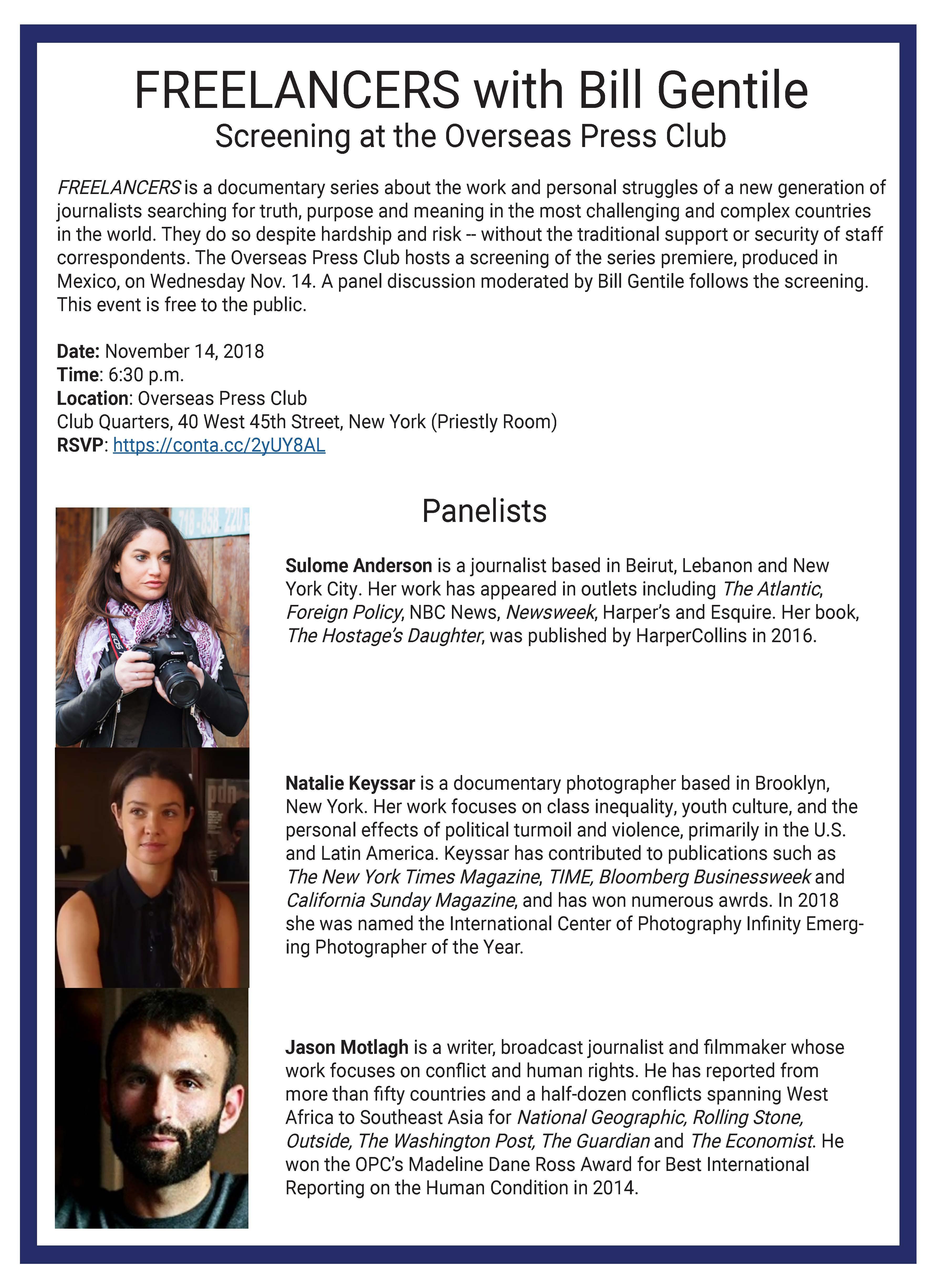 panelists 9 November 2018